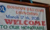 Pancarte de bienvenue au lancement du YALI Club de Bohicon