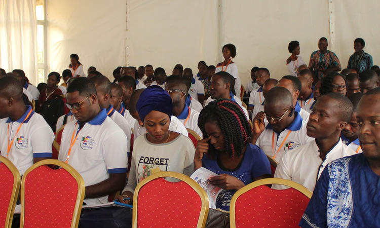 Participants at the Benin English Clubs Summi